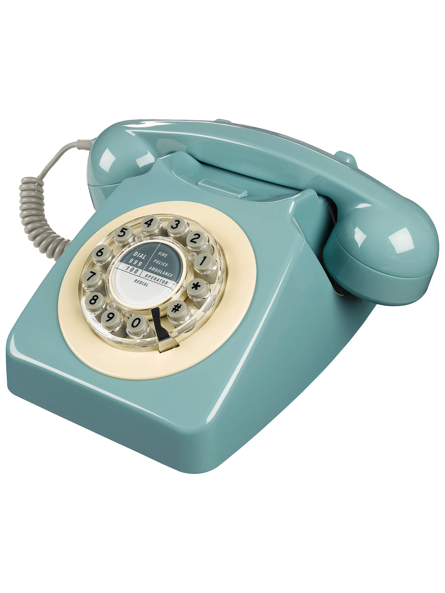 Buy Wild & Wolf 746 1960s Corded Telephone, French Blue Online at johnlewis.com