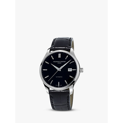 Buy Frédérique Constant FC-303B5B6 Men's Classics Index Automatic Leather Strap Watch, Black Online at johnlewis.com