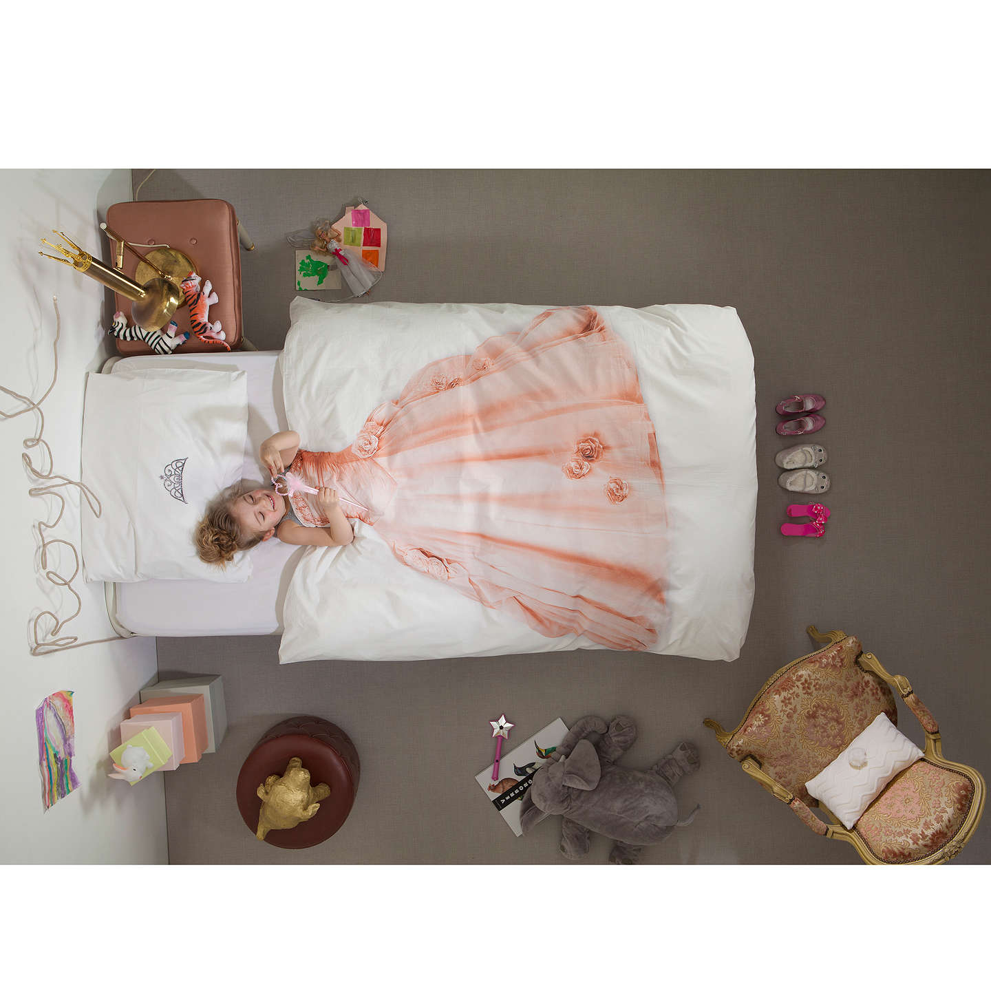 BuySnurk Princess Single Duvet Cover and Pillowcase Set Online at johnlewis.com