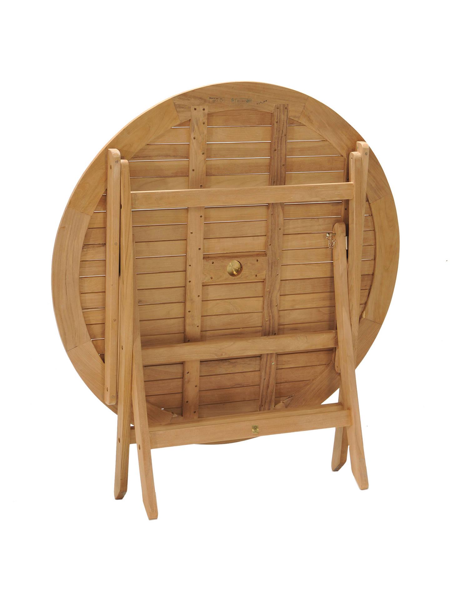 John Lewis Longstock Round 4-Seater Foldable Garden Table, FSC ...