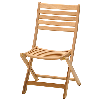 John Lewis Longstock Folding Garden Chair, FSC-Certified (Teak), Natural