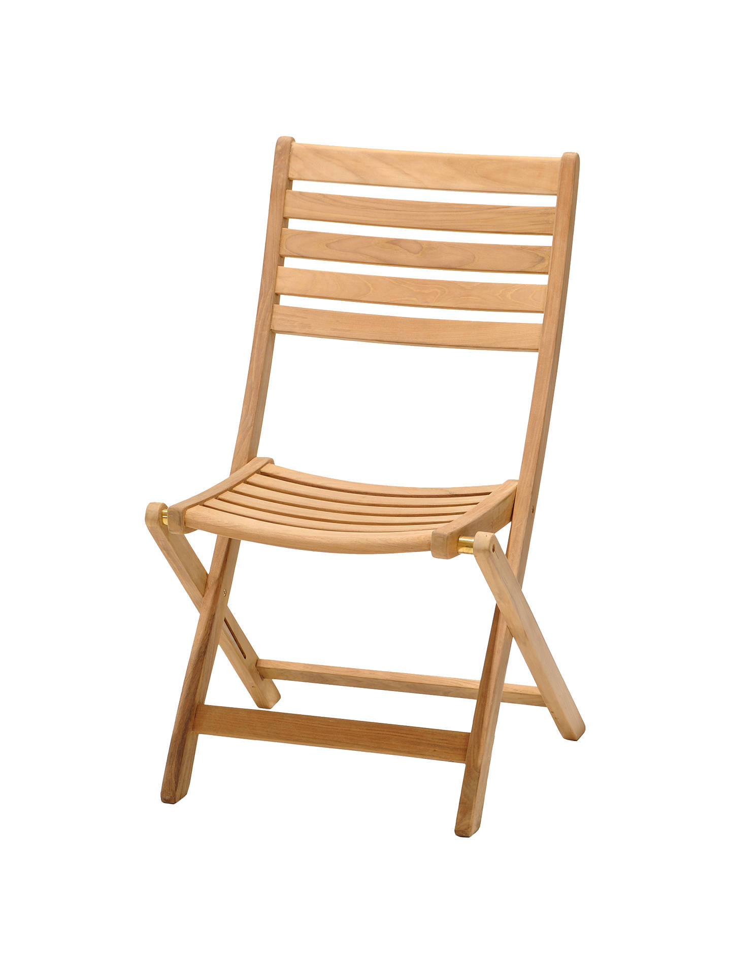 John Lewis Partners Longstock Folding Garden Chair Fsc Certified Teak