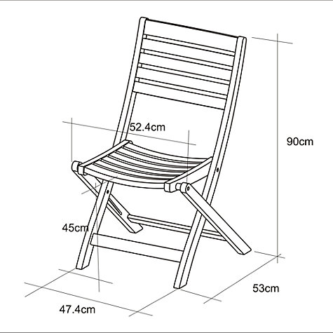 Buy John Lewis Longstock Folding Garden Chair, FSC-Certified (Teak), Natural Online at johnlewis.com