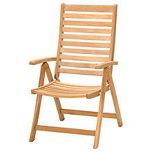 Buy John Lewis Longstock Reclining Teak Outdoor Armchair Online at johnlewis.com