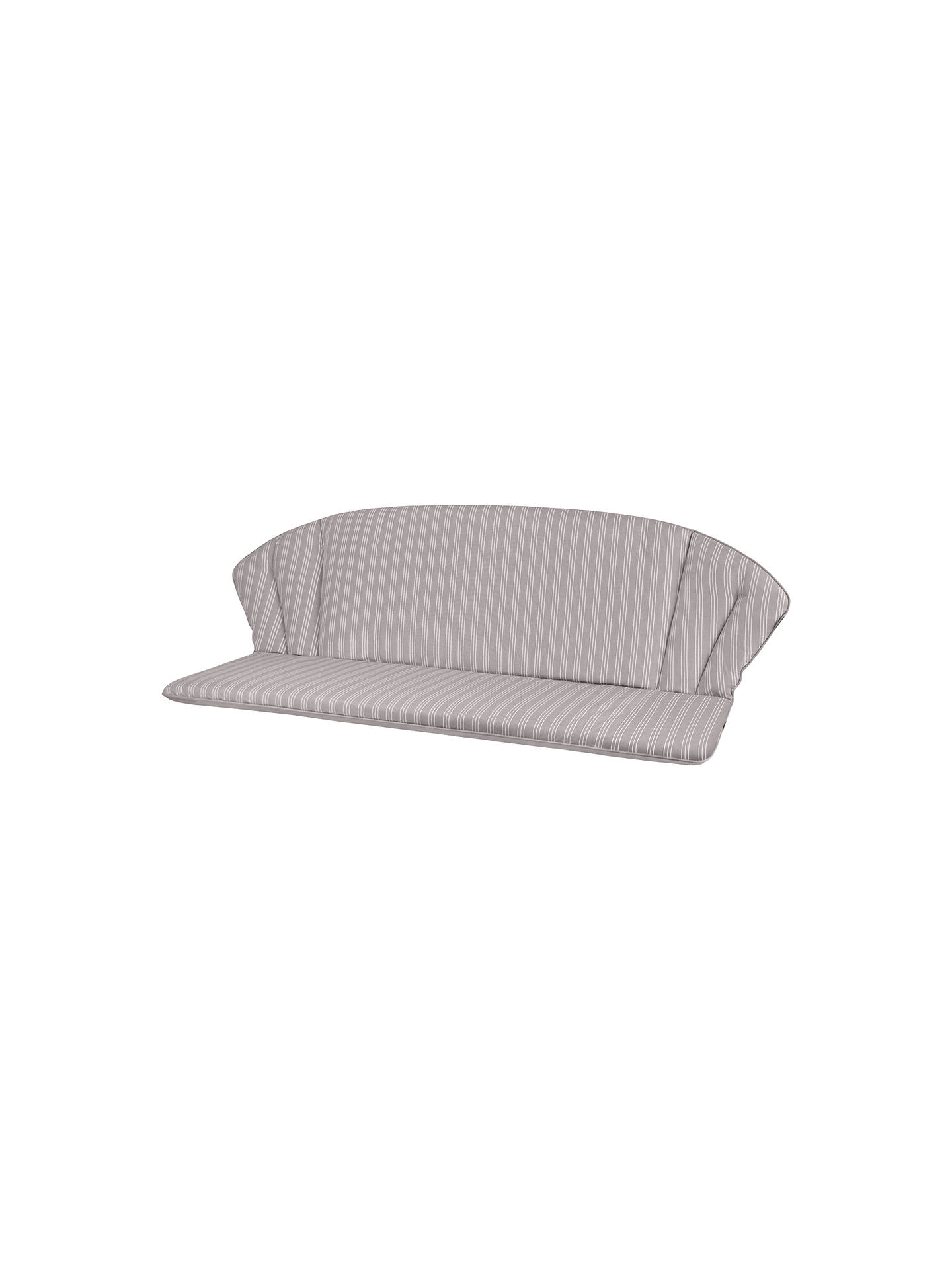 Buy John Lewis & Partners Henley by KETTLER 3-Seater Garden Bench Cushion, Grey Online at johnlewis.com