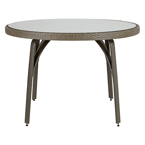 Buy John Lewis Corsica Outdoor 4-Seater Round Table Online at johnlewis.com
