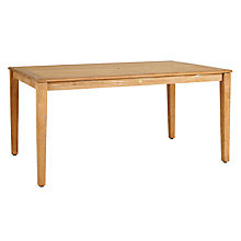 Buy John Lewis Longstock 6-Seater Rectangle Outdoor Table, FSC-Certified (Teak), Natural Online at johnlewis.com