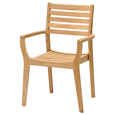 John Lewis Longstock Stacking Garden Chair, FSC-Certified (Teak), Natural