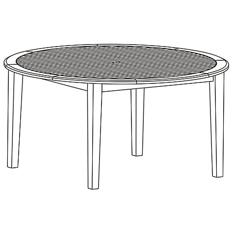 Buy John Lewis Longstock 6-Seater Round Garden Dining Table, FSC-Certified (Teak), Natural Online at johnlewis.com