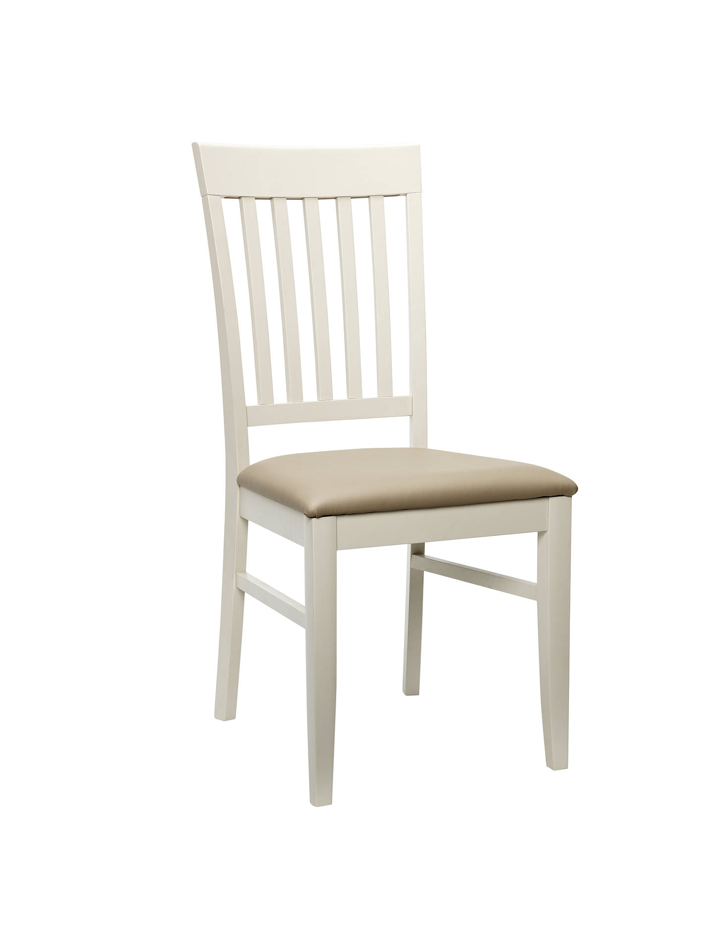 BuyJohn Lewis & Partners Alba Slat Back Dining Chair, Soft Grey/Oak Online at johnlewis.com