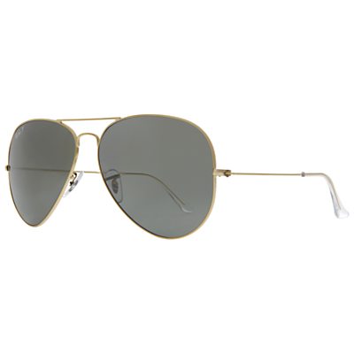 Product photo of Rayban rb3025 aviator sunglasses gold grey