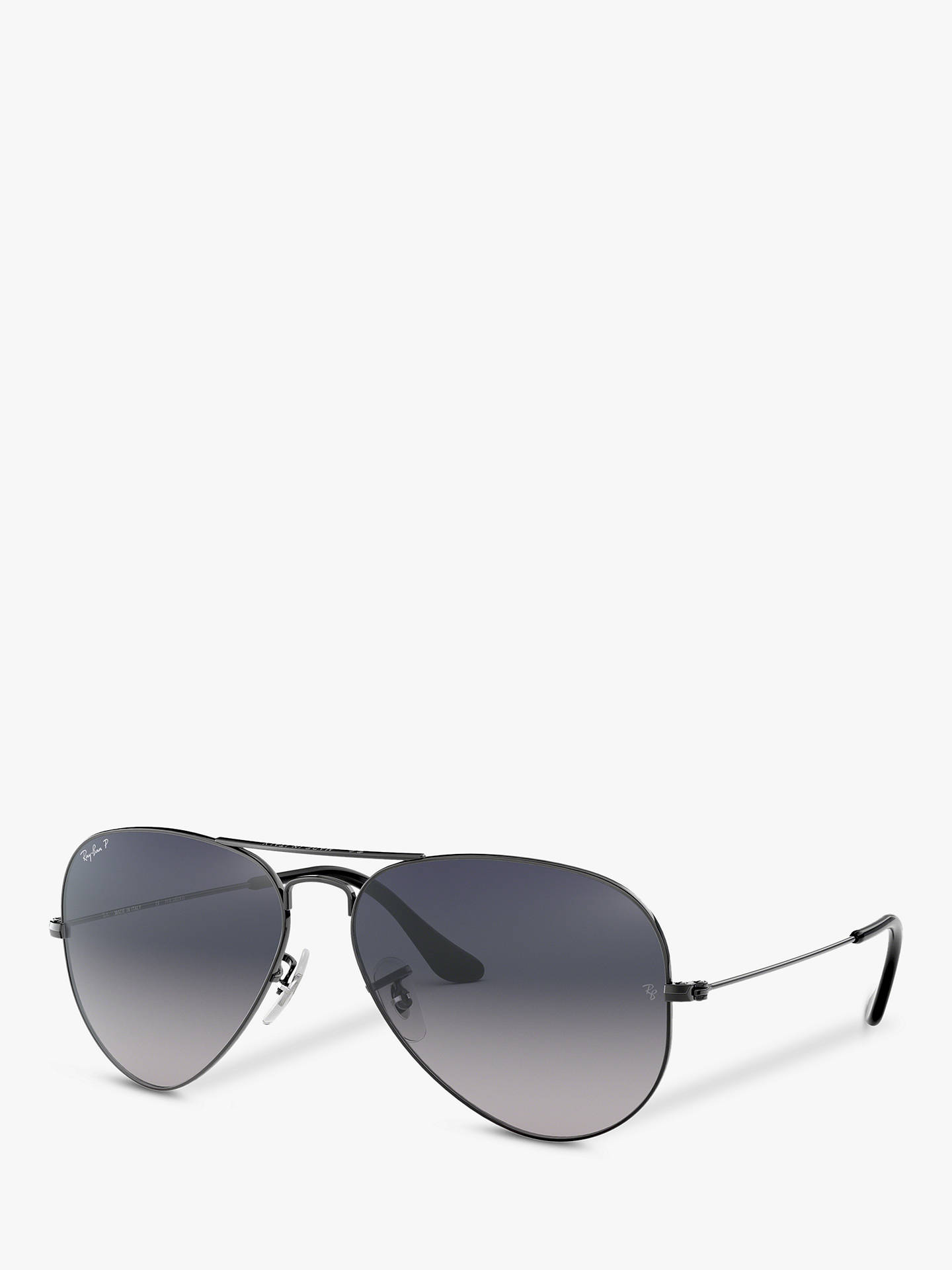 52a628ecb85 Buy Ray-Ban RB3025 004/78 Aviator Sunglasses, Gunmetal Online at johnlewis.