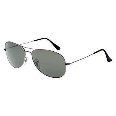 Ray-Ban RB3362 Aviator Sunglasses, Gunmetal/Grey