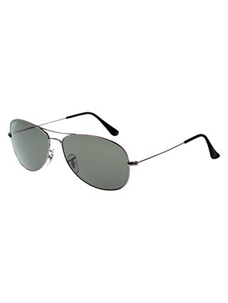 Ray-Ban RB3362 Aviator Sunglasses, Gunmetal/Grey