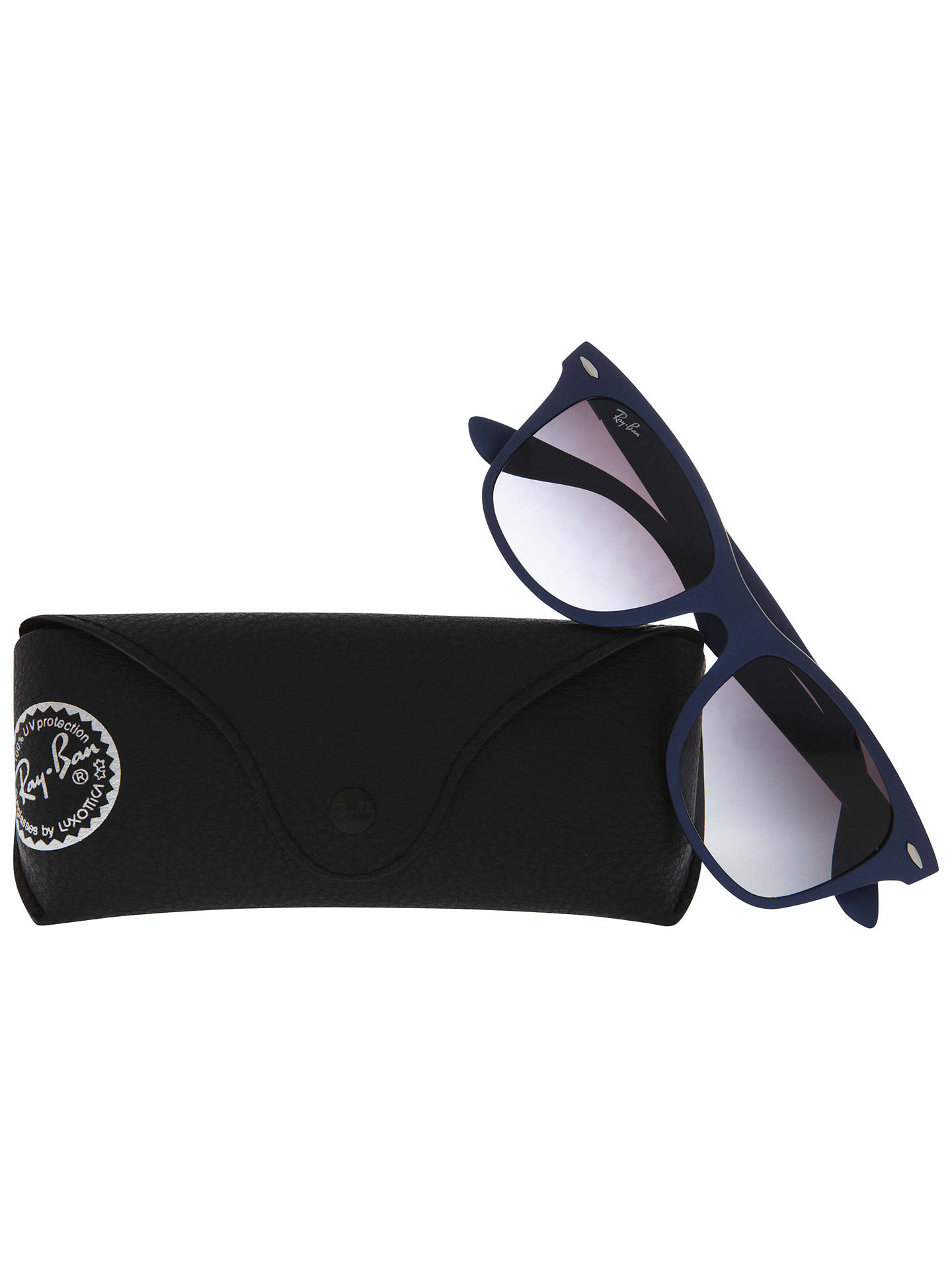 BuyRay-Ban RB4195 Lite Force Square Framed Wayfarer Sunglasses, Blue Online at johnlewis.com