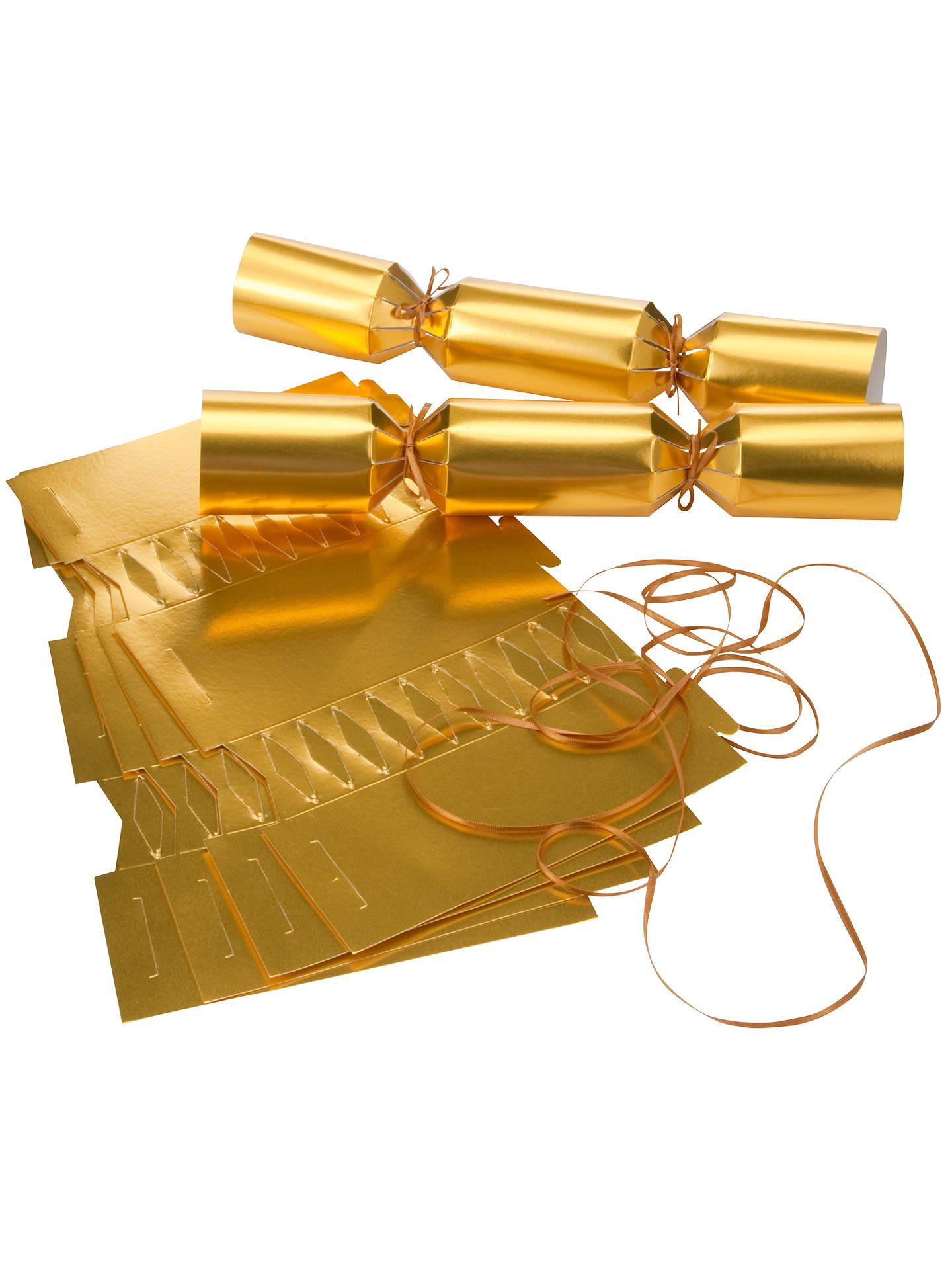 John Lewis Make Your Own Crackers Kit, Gold at John Lewis & Partners