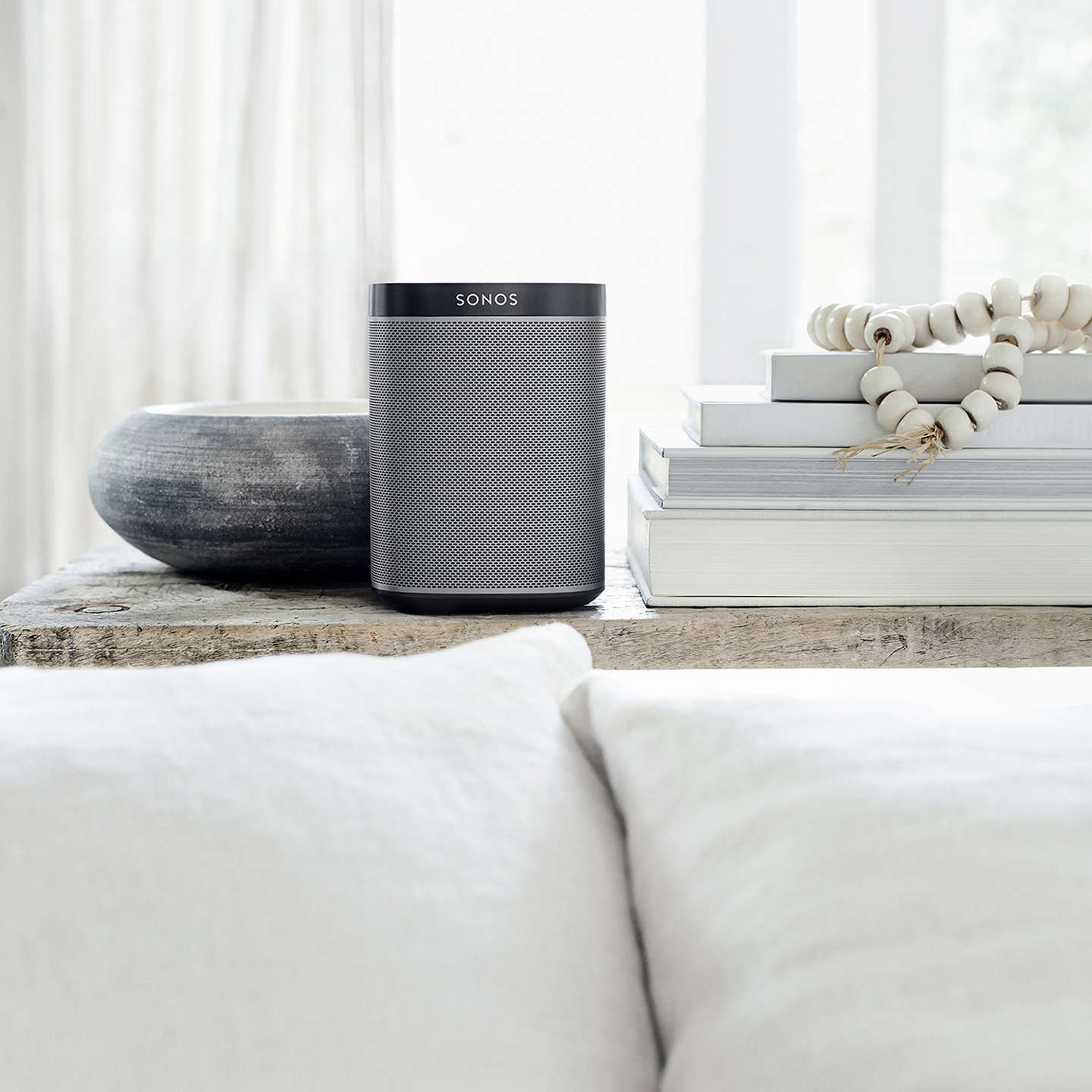 BuySonos PLAY:1 Smart Speaker, Black Online at johnlewis.com
