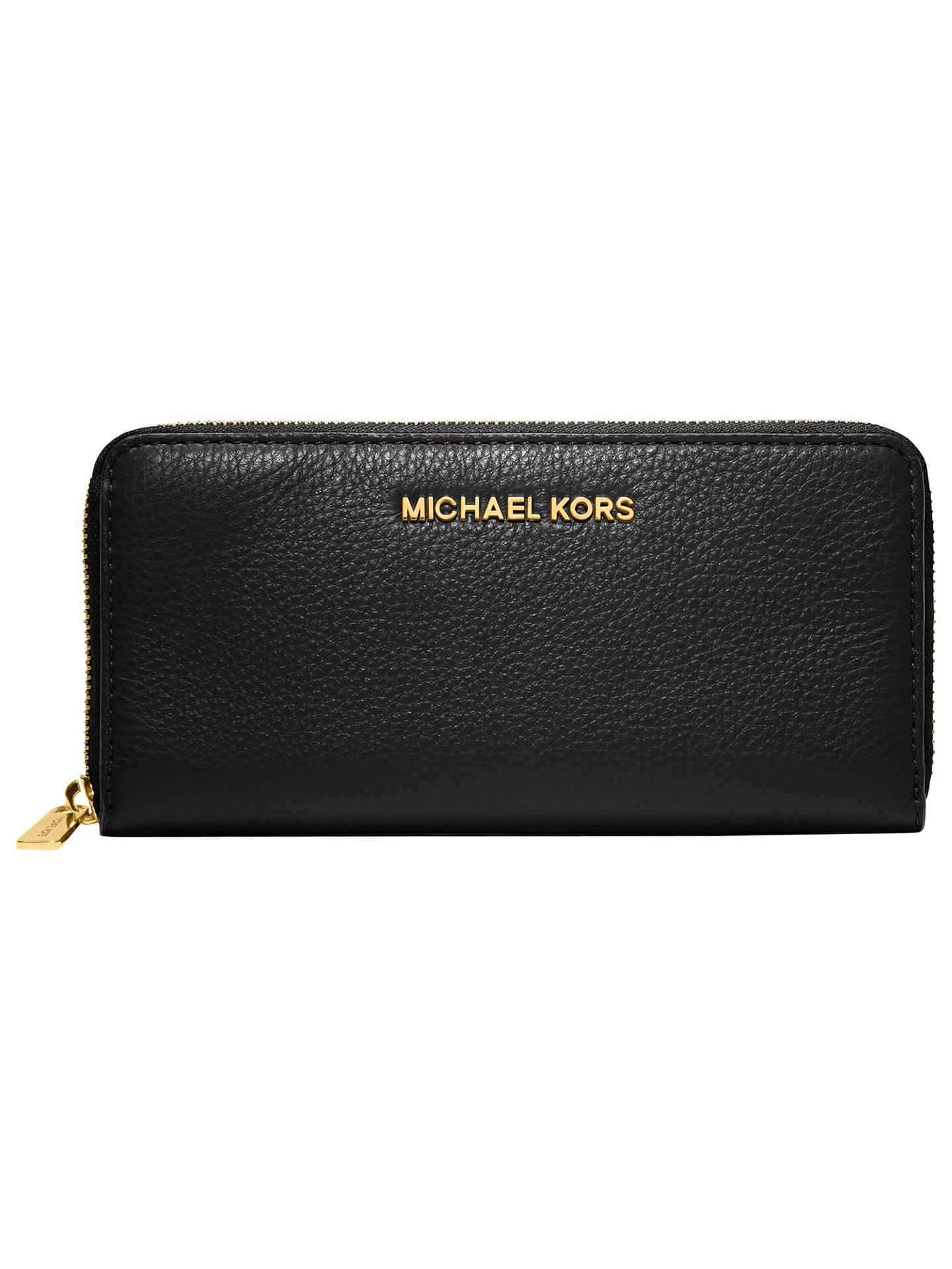 michael michael kors jet set travel leather continental purse at rh johnlewis com