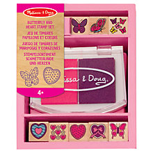 Buy Melissa & Doug Butterfly and Heart Stamp Set Online at johnlewis.com
