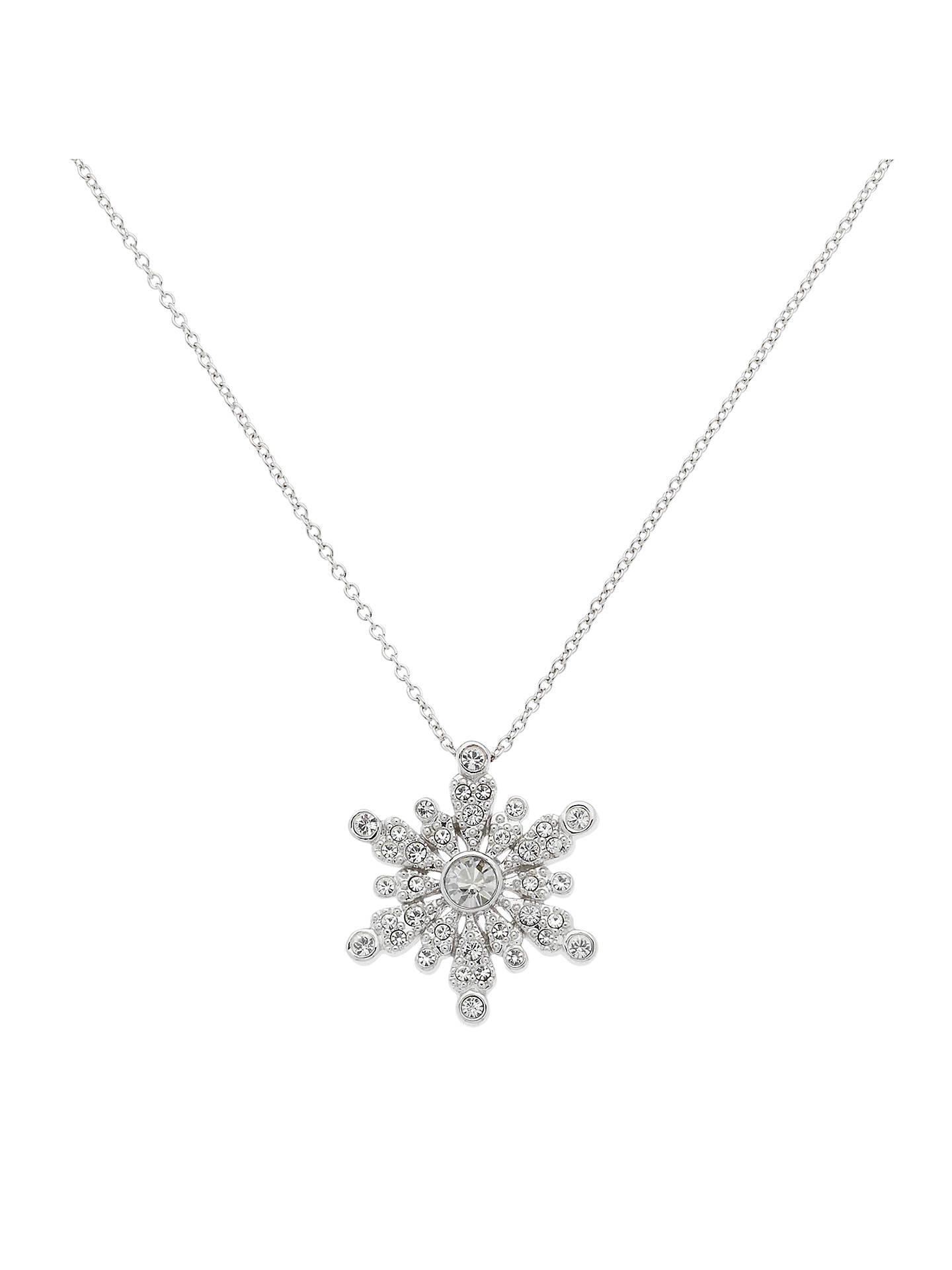 e089ee0c64 Buy Cachet London Snowflake Swarovski Crystal Pendant Necklace Online at  johnlewis.com