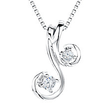 Buy Jools by Jenny Brown Sterling Silver Cubic Zirconia Cherries Pendant, Rhodium Online at johnlewis.com
