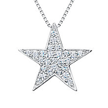 Buy Jools by Jenny Brown Sterling Silver Pave Star Pendant, Rhodium Online at johnlewis.com