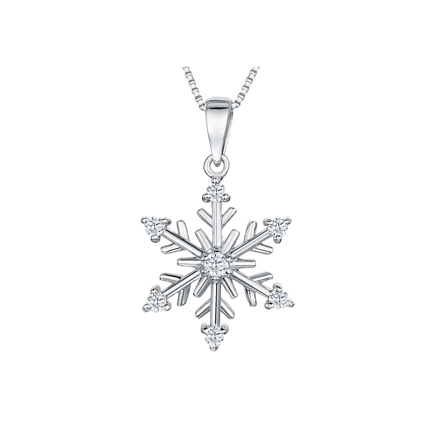 jewellery it snowflake snow three triple let azendi pendant silver tier