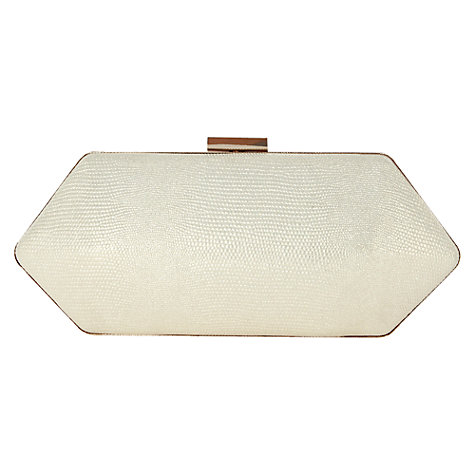 Buy Warehouse Hard Diamond Clutch Handbag, Gold Online at johnlewis.com