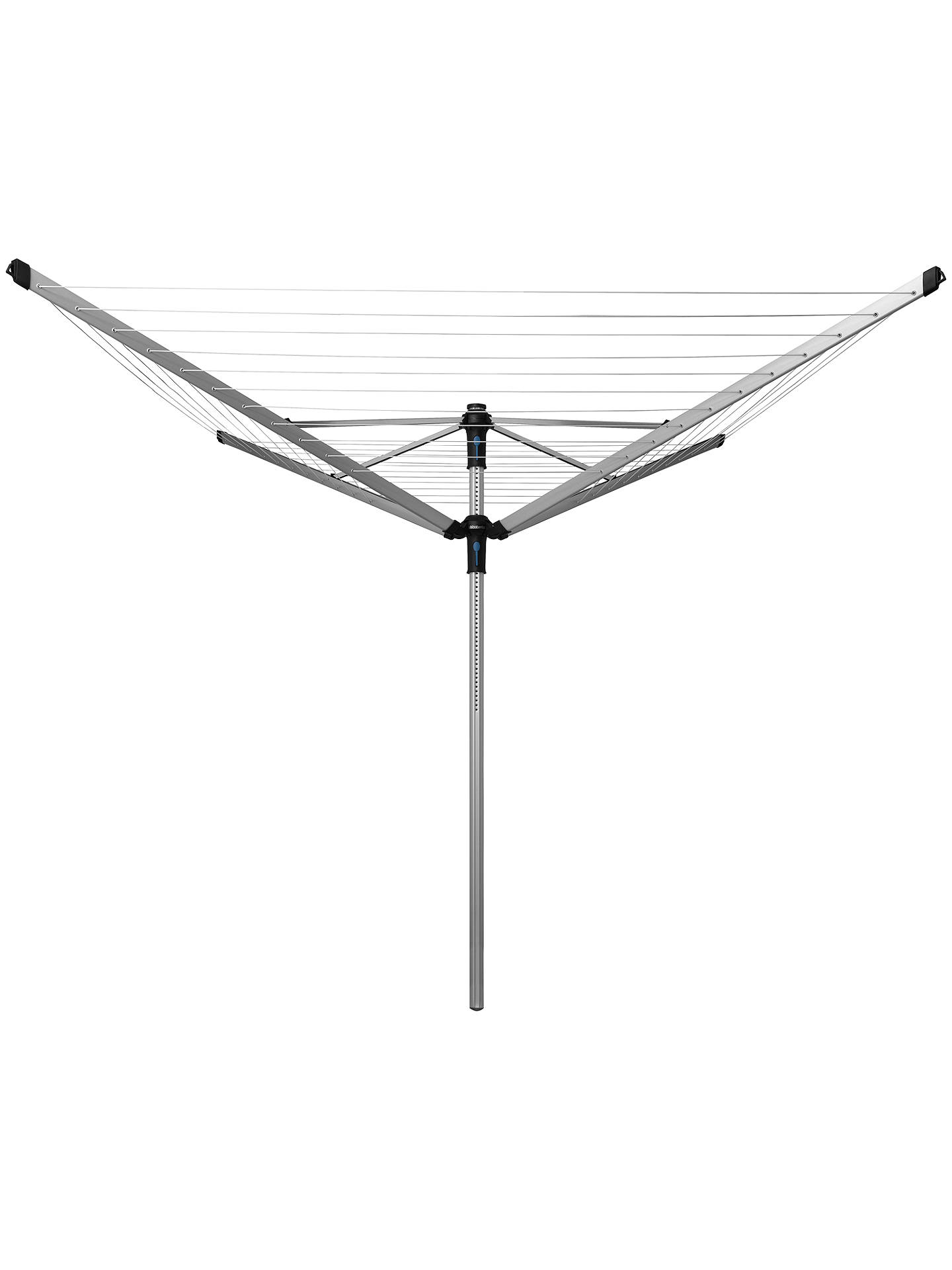 BuyBrabantia Lift-O-Matic Advance Rotary Clothes Outdoor Airer Washing Line, with Ground Tube, Cover and Peg Bag, 60m Online at johnlewis.com