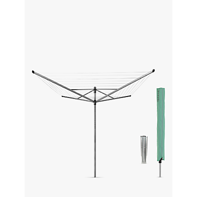 Brabantia Lift-O-Matic Rotary Washing Line, with Soil Spear and Cover, 60m