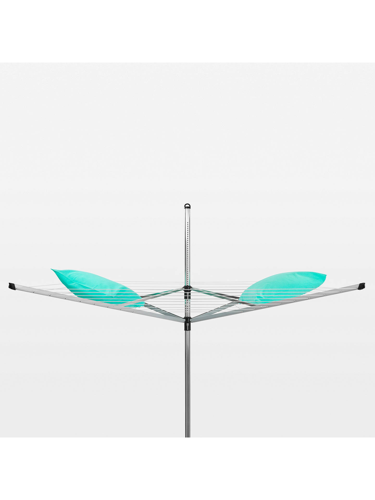 Brabantia Lift-O-Matic Rotary Clothes Outdoor Airer Washing Line, with Soil  Spear and Cover, 60m