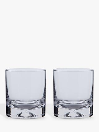Dartington Crystal Dimple Old Fashioned Whiskey Glasses, Set of 2, 250ml
