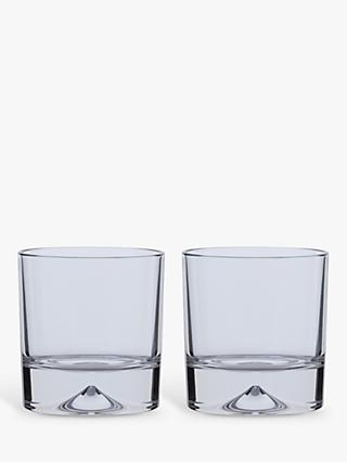 Dartington Crystal Dimple Double Old Fashioned Whiskey Glasses, Set of 2, 285ml