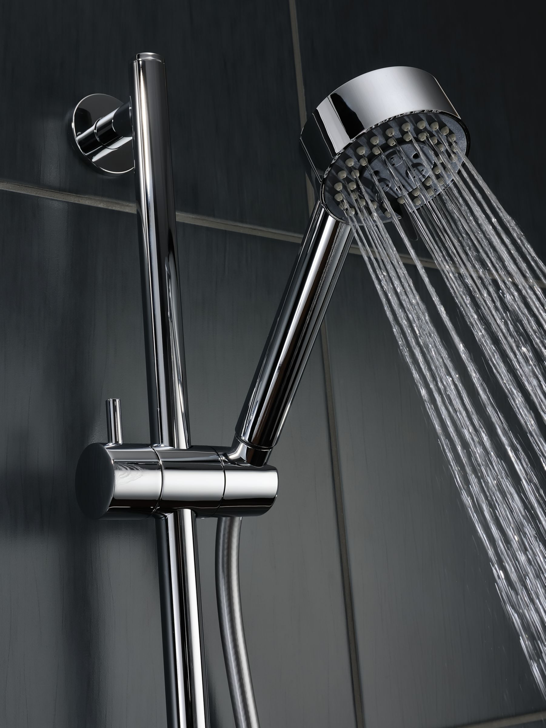 Abode Abode Euphoria AB2316 Wall Mounted Thermostatic Shower Valve and Sliding Rail Kit