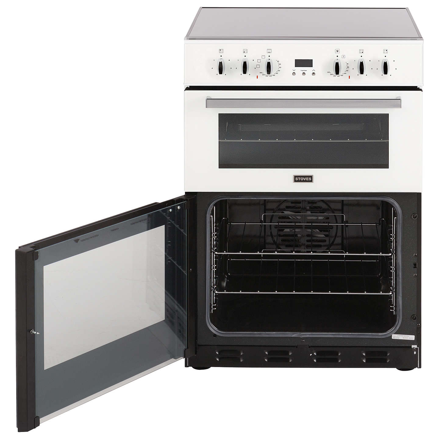 BuyStoves SEC60DOP Electric Cooker, White Online at johnlewis.com