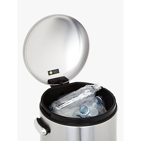 Buy simplehuman Fingerprint Proof Retro Pedal Bin, Stainless Steel, 30L Online at johnlewis.com