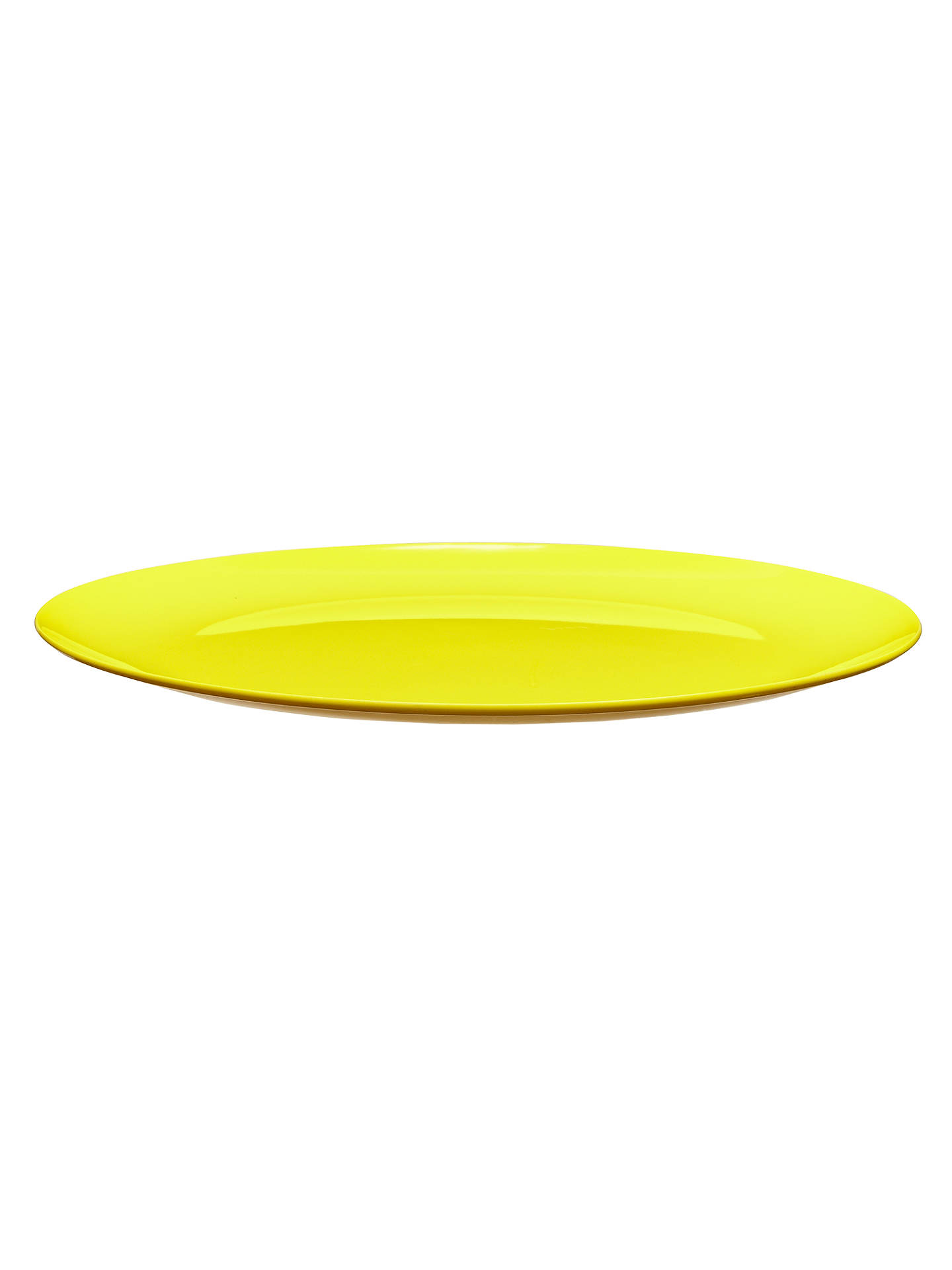 BuyHouse by John Lewis Dinner Plate, Yellow Online at johnlewis.com