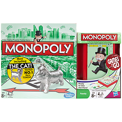 Image of Monopoly Board Game and Monopoly Travel Set