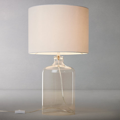 Buy john lewis croft collection william glass bottle table for Table lamp shades john lewis