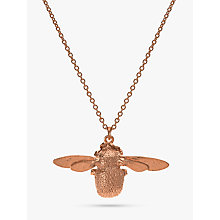 Buy Alex Monroe 22ct Rose Gold Vermeil Bee Pendant Necklace, Rose Gold Online at johnlewis.com