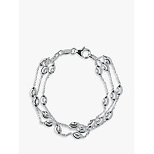 Buy Links of London Essentials Sterling Silver Beaded Chain 3 Row Bracelet, Silver Online at johnlewis.com