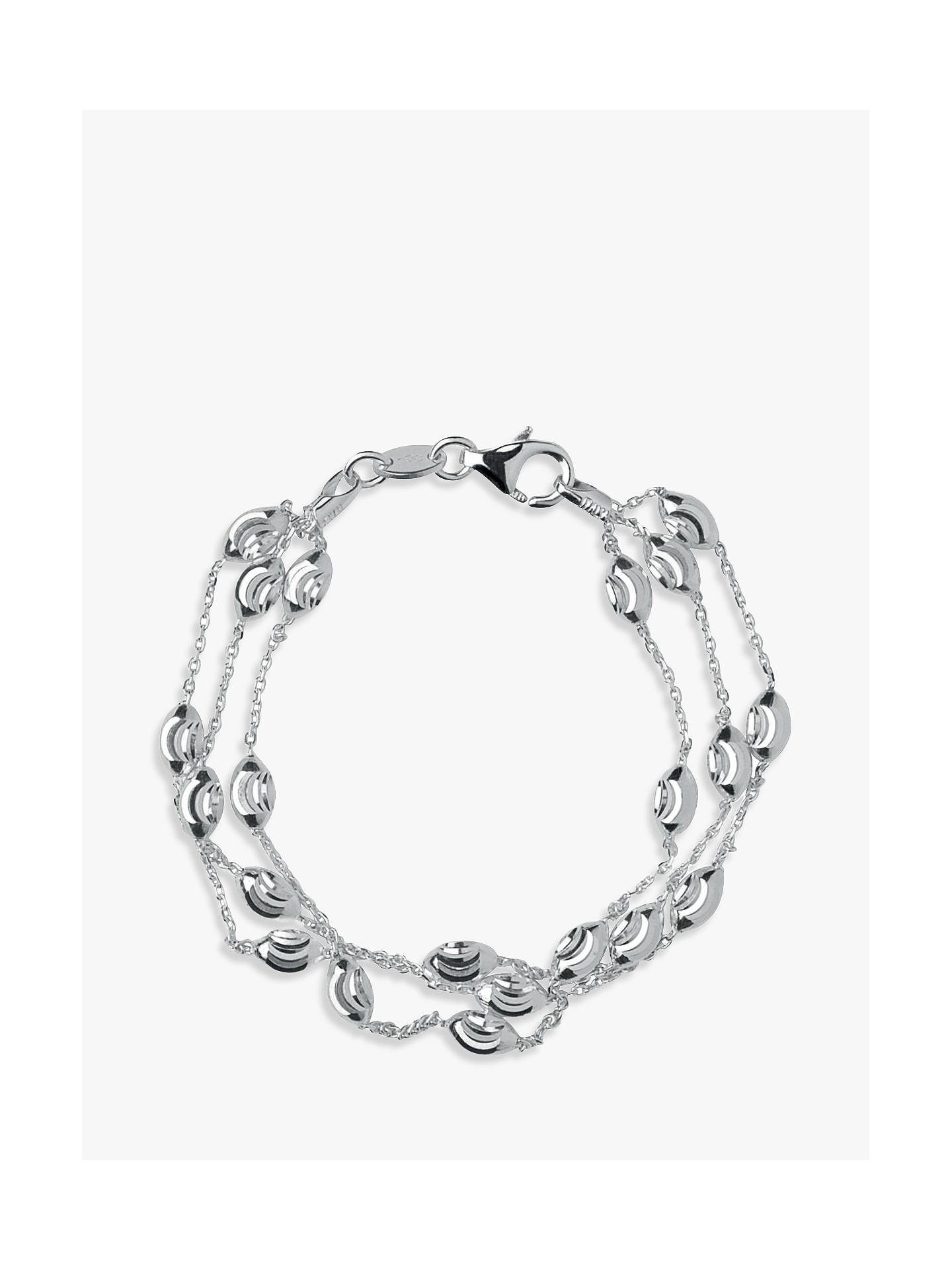 d1f584b1399d Buy Links of London Essentials Sterling Silver Beaded Chain 3 Row Bracelet