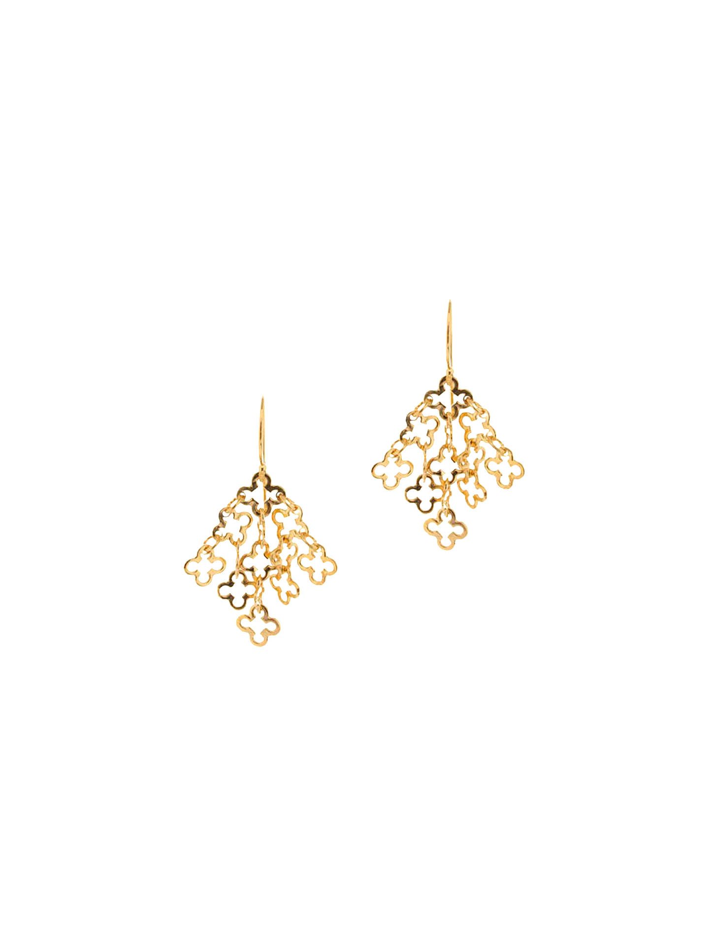 e74b7966f Buy Dinny Hall 22ct Gold Vermeil Talitha Small Motif Drop Earrings Online  at johnlewis.com ...