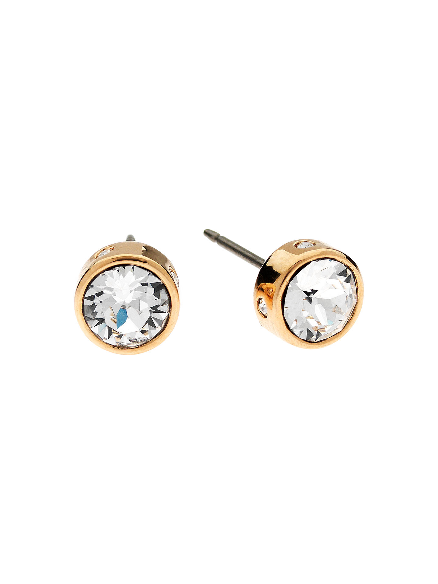 d6718b8f4 Buy Cachet Rose Gold Plated Bezel Set Swarovski Crystal Stud Earrings  Online at johnlewis.com
