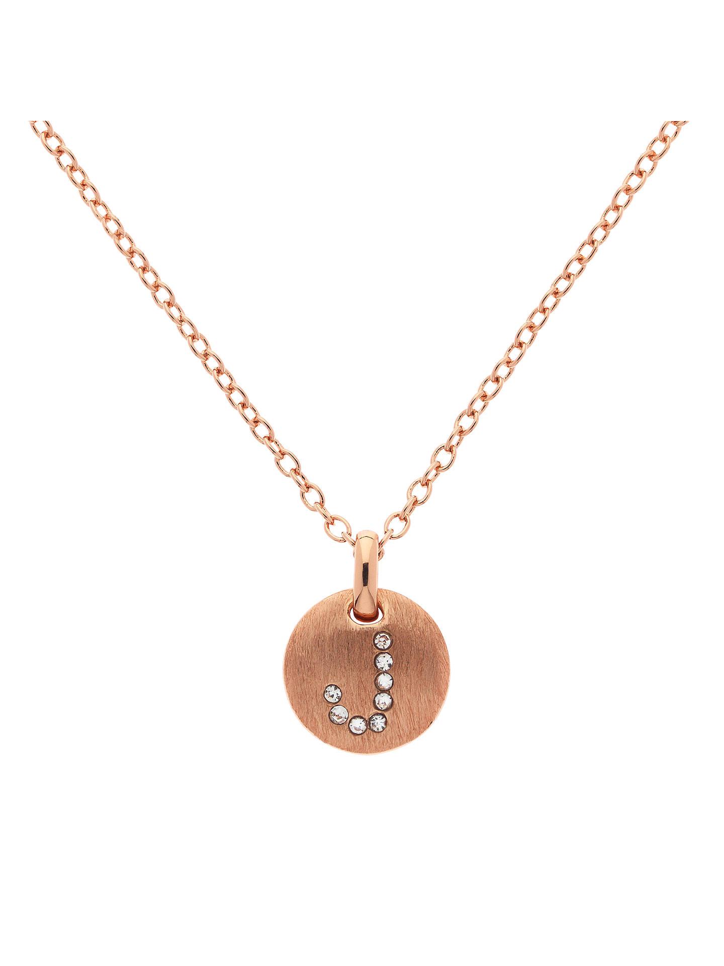 95f722e79ac04 Melissa Odabash Rose Gold Plated Crystal Letter Pendant at John ...
