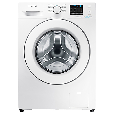 Samsung WF80F5E0W2W ecobubble™ Freestanding Washing Machine, 8kg Load, A+++ Energy Rating, 1200rpm Spin, White