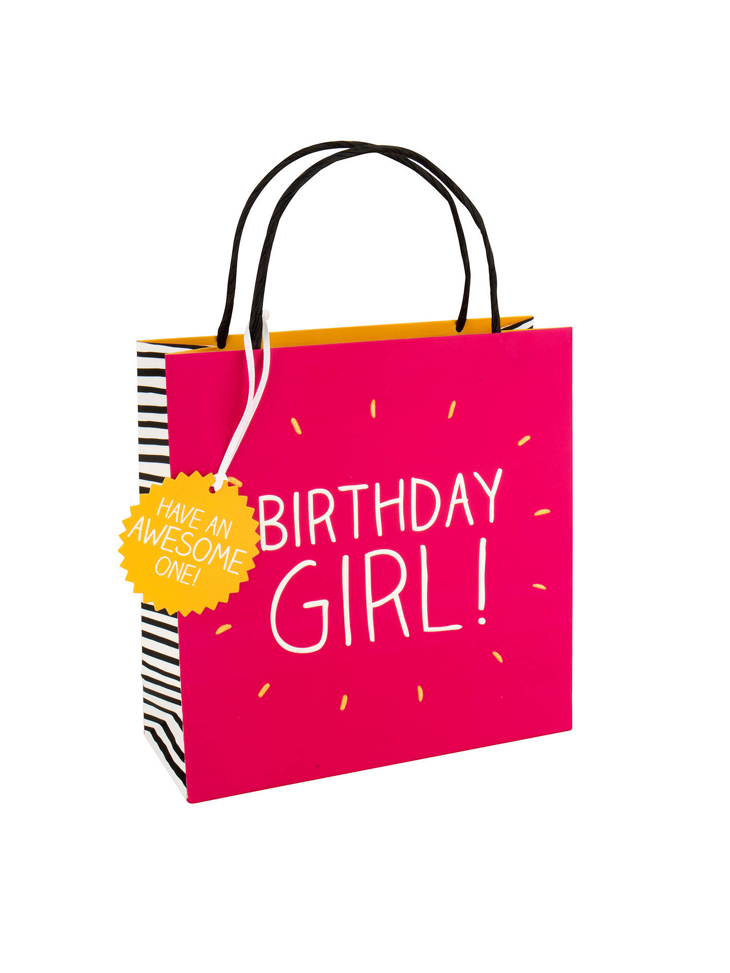 Buy Happy Jackson Birthday Girl Gift Bag Multi Small Online At Johnlewis