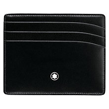 Buy Montblanc Meisterstück Leather 6 Card Wallet, Black Online at johnlewis.com