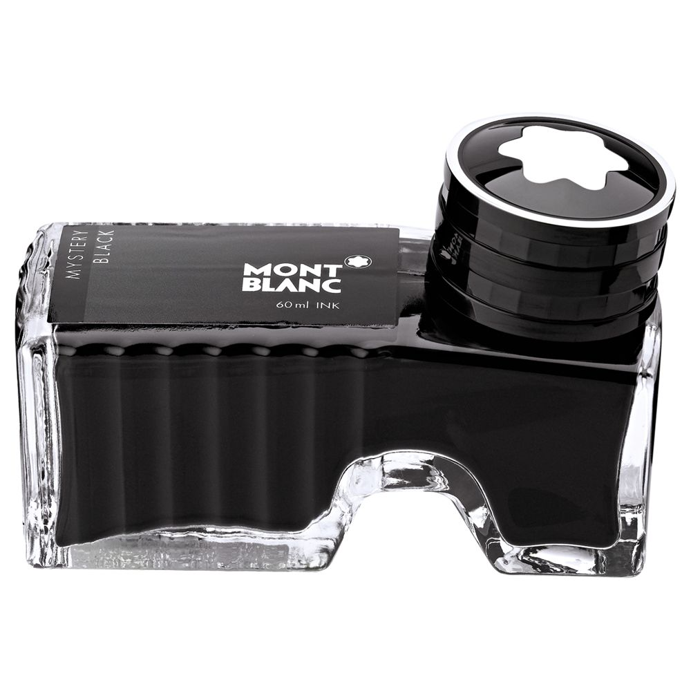 Montblanc Montblanc Ink Bottle for Fountain Pen, Mystery Black, 60ml