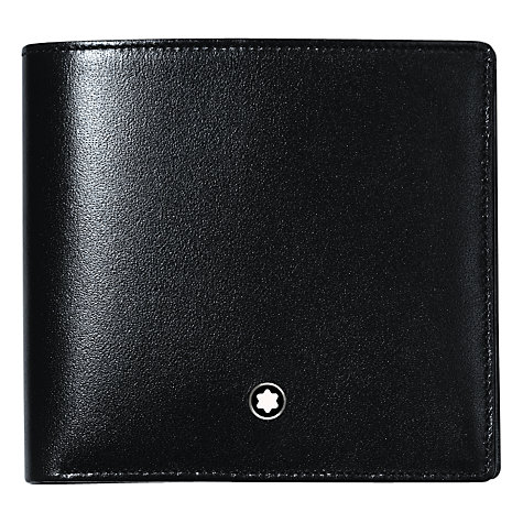 Buy Montblanc Meisterstück 4 Card and Coin Pocket Leather Wallet, Black Online at johnlewis.com